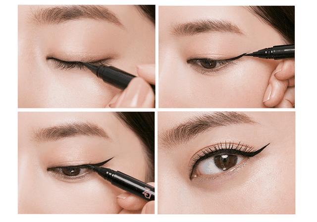 Dùng kẻ mắt nước thay mascara
